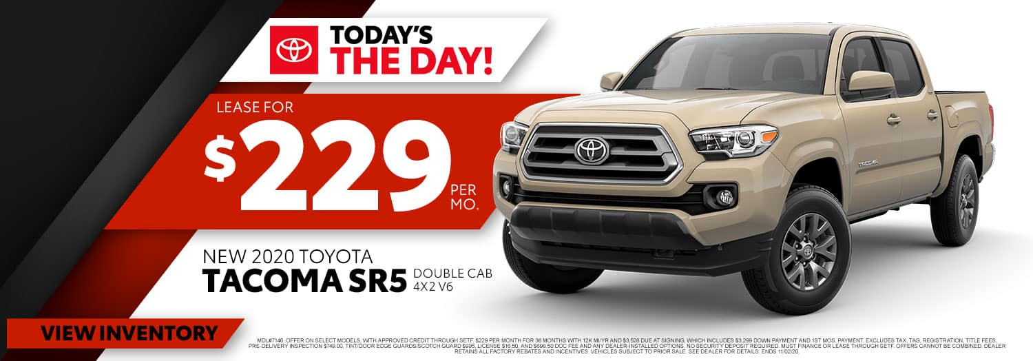 New 2020 Toyota Tacoma SR5 at High Country Toyota!