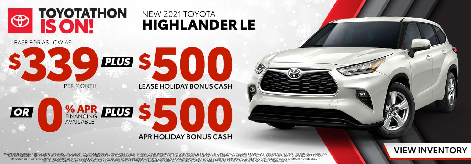 New 2021 Toyota Highlander LE at High Country Toyota!