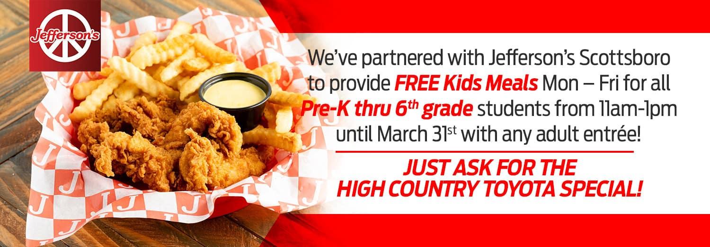 Free Kids Meals in Scottsboro, AL