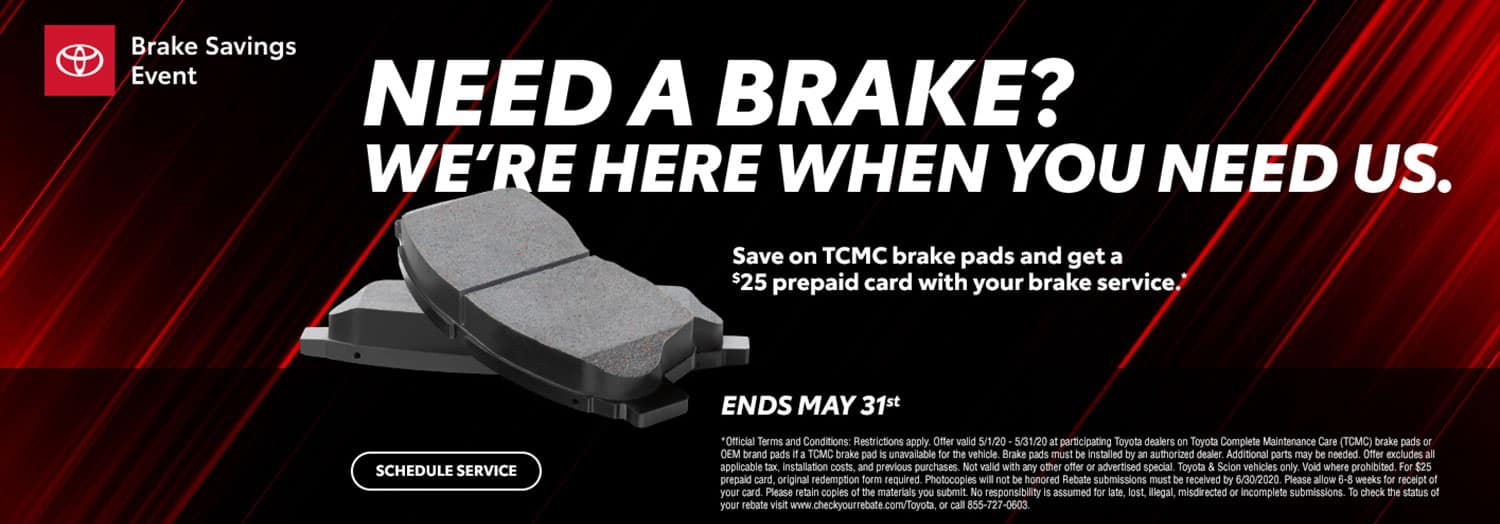 Brakes Savings at High Country Toyota
