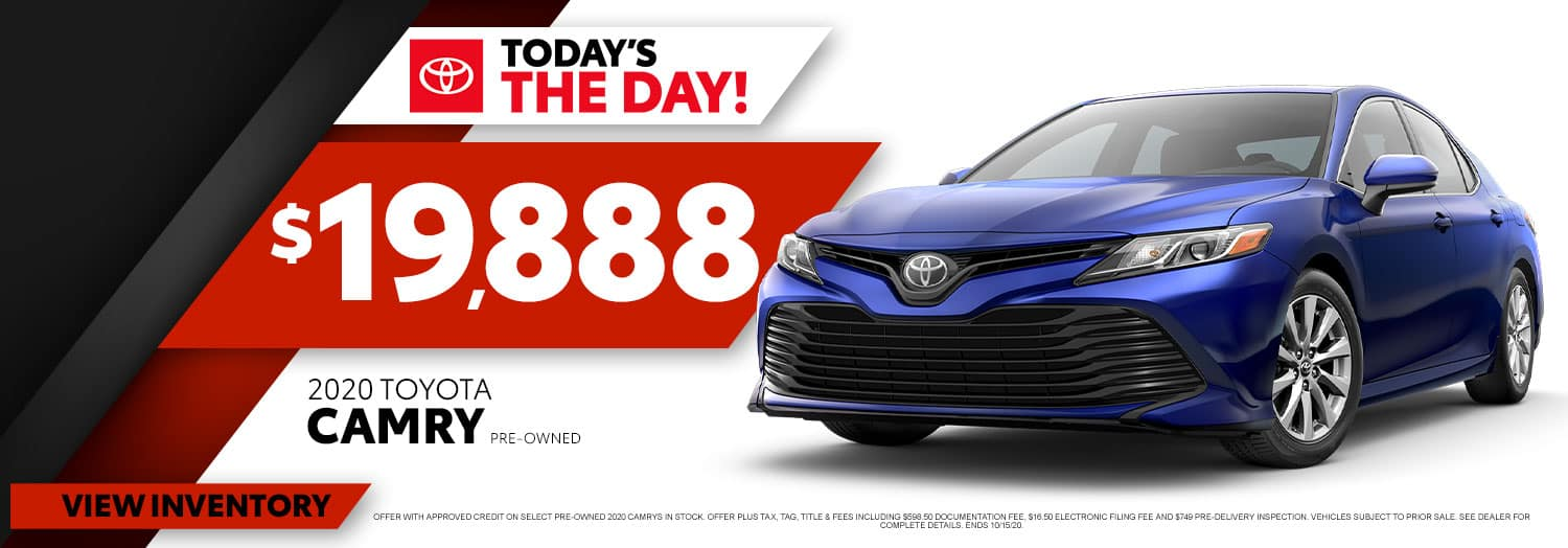 Buy a Pre-Owned 2020 Toyota Camry from $19,888 at High Country Toyota!