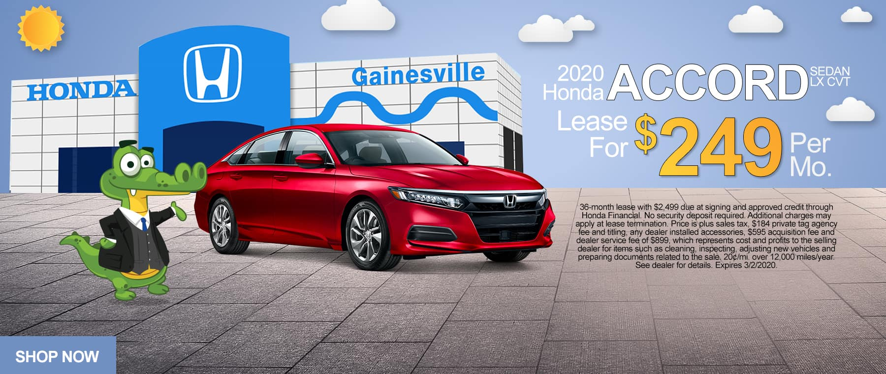 2020 Honda Accord Sedan CVT LX | Lease For $249/Mo