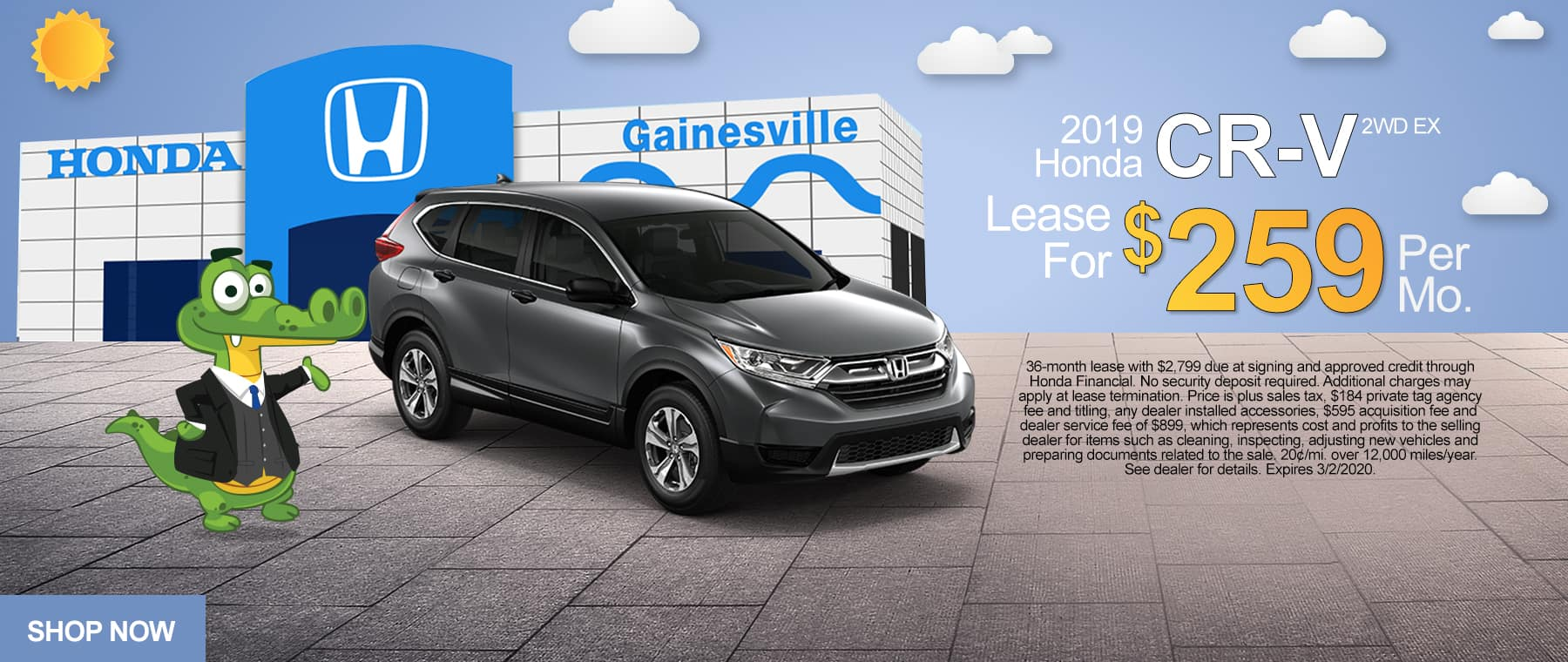 New 2019 Honda CR-V 2WD EX | Lease For $259/Mo