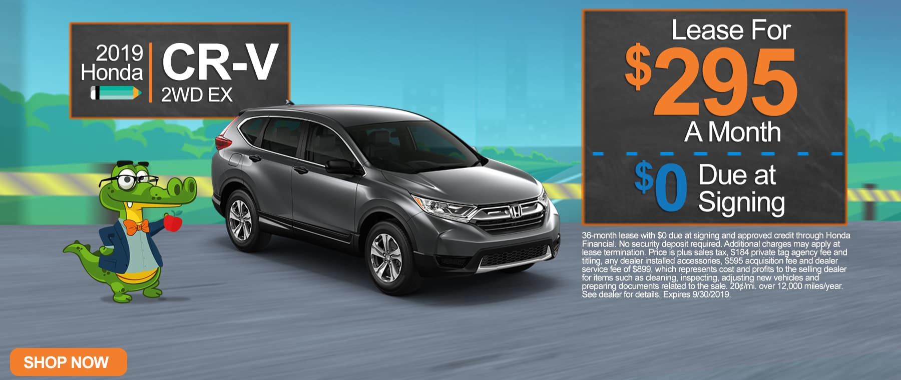 New 2019 Honda CR-V 2WD EX | $295 A Month | $0 Due At Signing