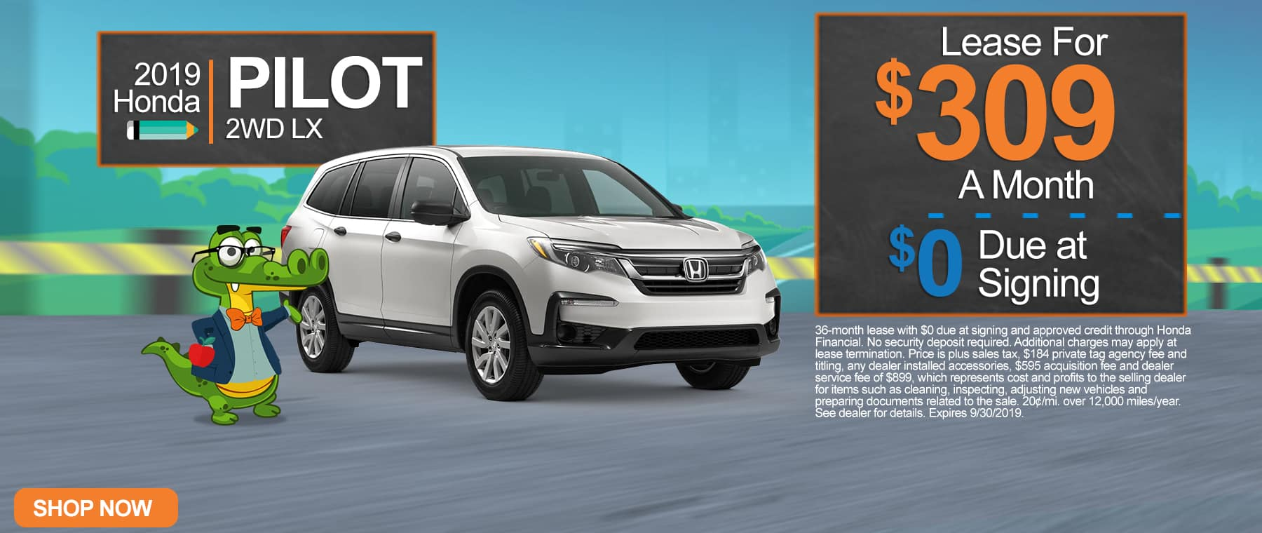 New 2019 Honda Pilot 2WD LX | $309 A Month | $0 Due At Signing
