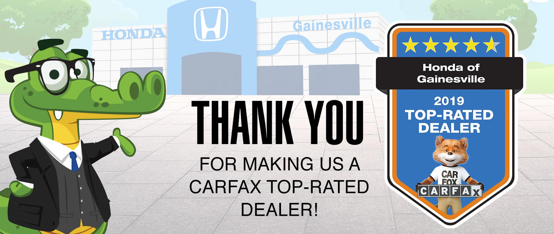 Thank You For Making Us A CarFax Top Rated Dealer
