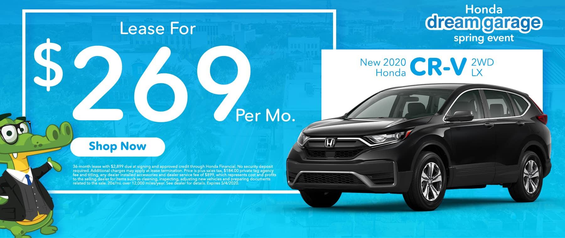New 2020 Honda CR-V 2WD LX | Lease For $269 Per Mo | Honda Dream Garage Spring Event