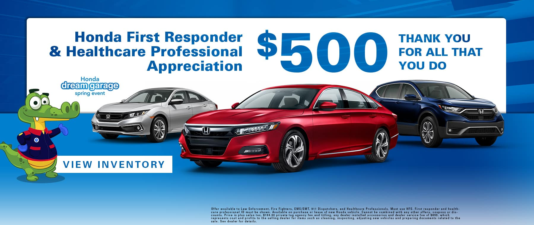 Honda First Responder & Healthcare Professional Appreciation | $500 | Thank You For All That You Do