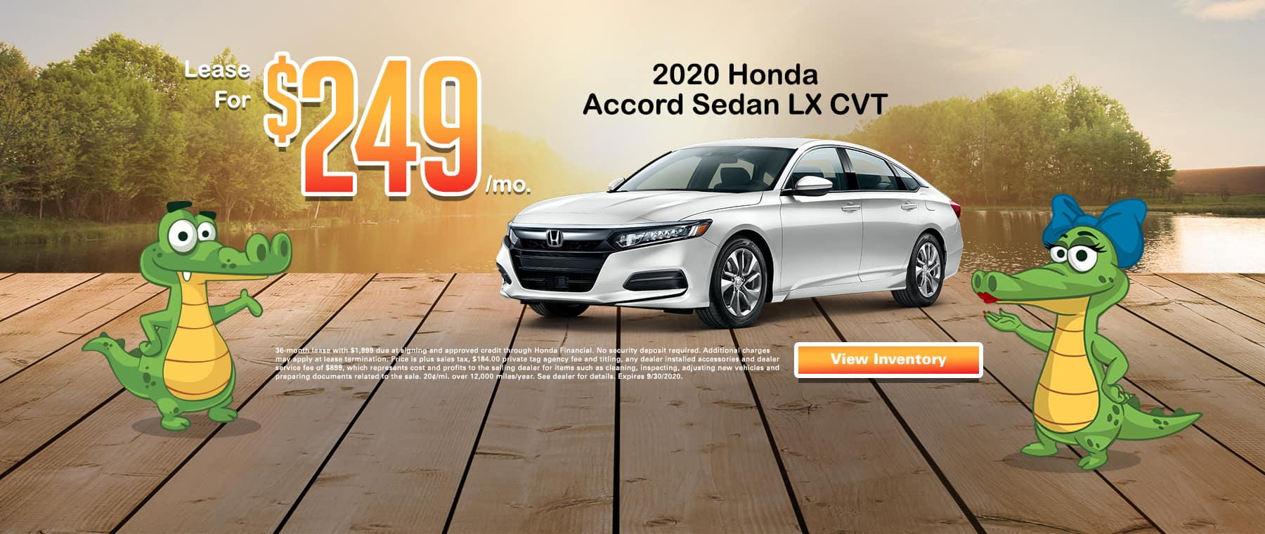 New 2020 Honda Accord Sedan LX CVT | Lease For $249 Per Mo