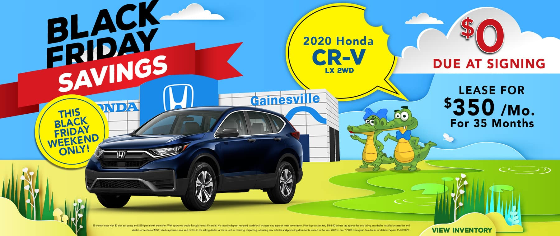 Black Friday Savings | 2020 Honda CR-V 2WD LX | Lease For $350/Month with $0 Due At Signing