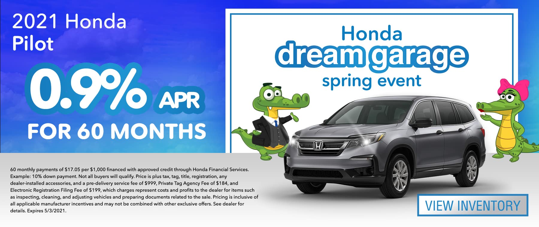 2021 Honda Pilot | 0.9% APR For 60 Months | Honda dream garage spring event