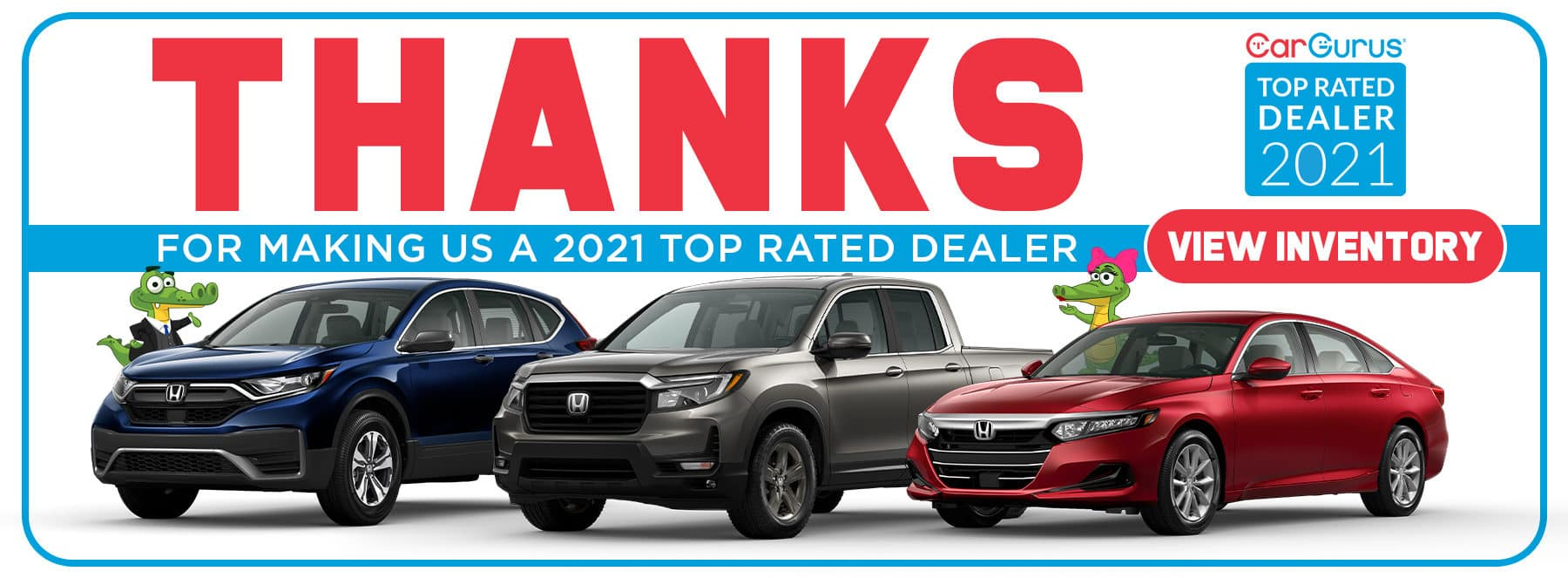 Thank You For Making Us A 2021 Top Rated Dealer - CarGurus