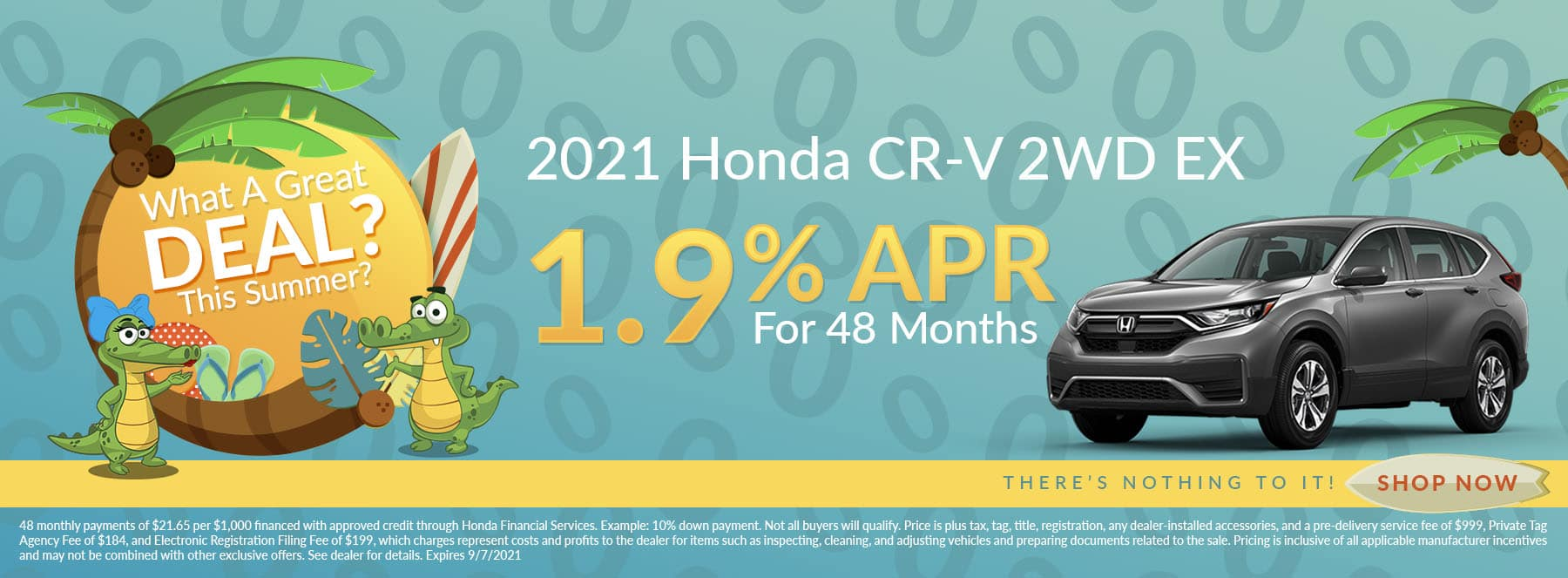Want A Great Deal This Summer? | 2021 Honda CR-V 2WD EX | 1.9% APR For 48 Months