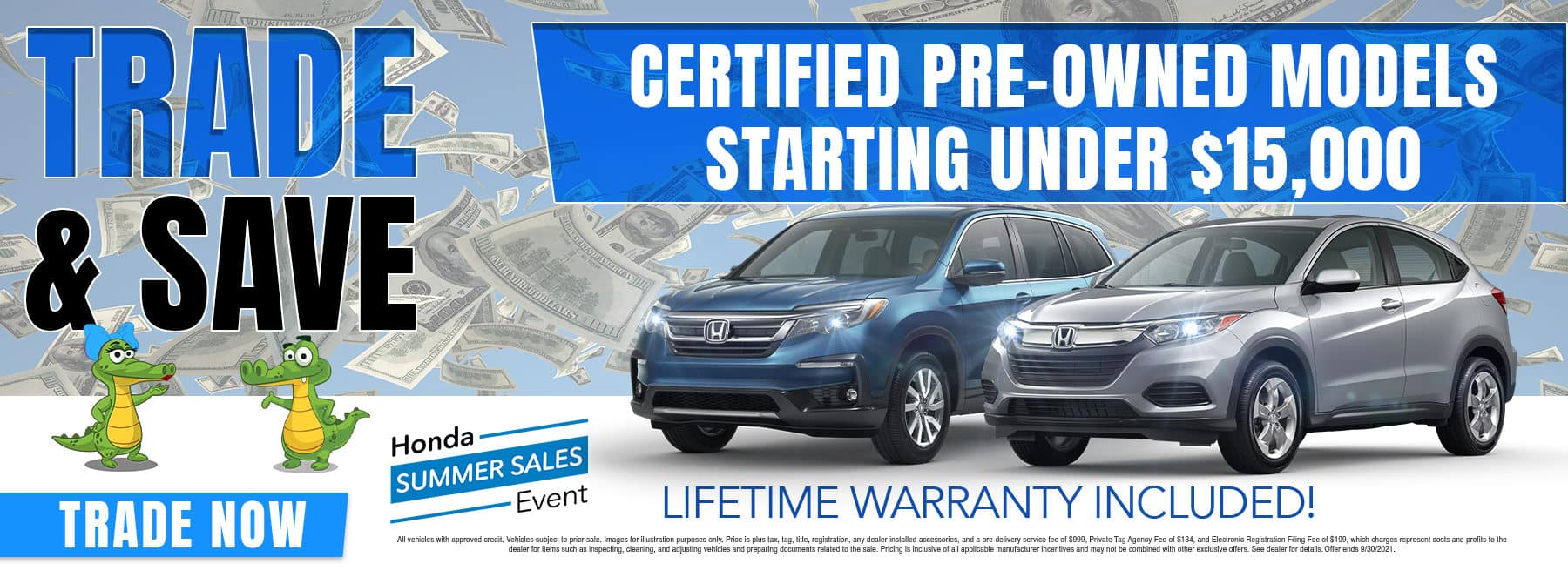 Trade & Save | Certified Pre-Owned Models Starting Under $15,000 |
