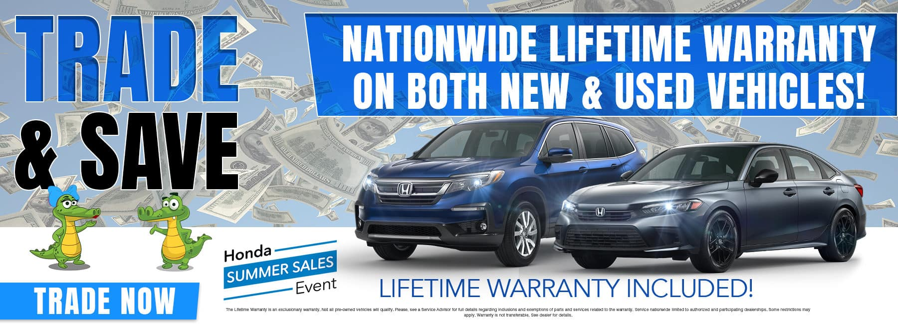 Trade & Save | Nationwide Lifetime Warranty On Both New & Used Vehicles!