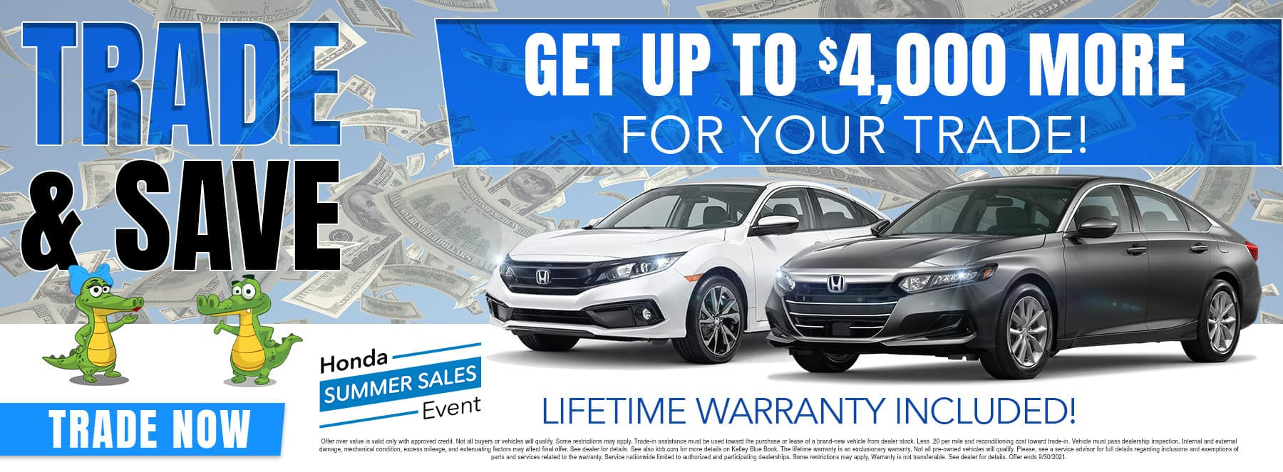 Trade & Save | Get Up To $4,000 More For Your Trade! | Lifetime Warranty Included!
