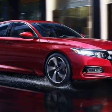 2019 Honda Accord profile view driving in the rain
