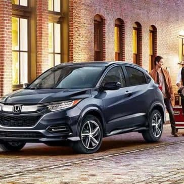 2019 Honda HR-V in the city at dusk