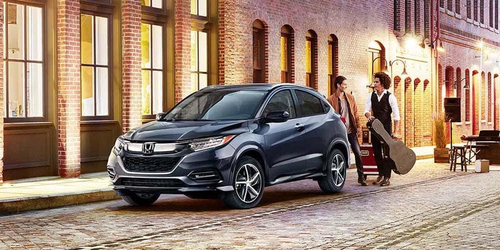2019 Honda HR-V in the city at dusk