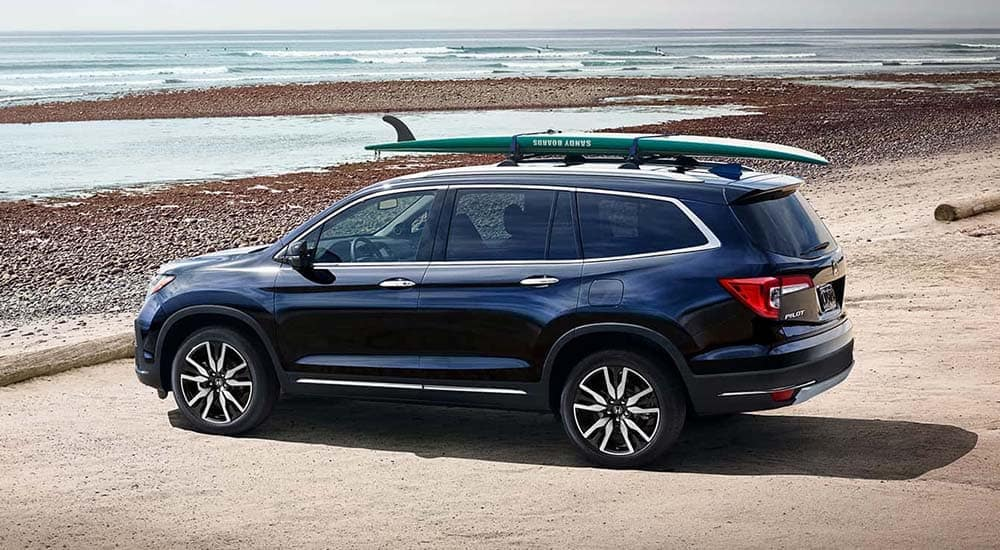 2019 Honda Pilot on the beach