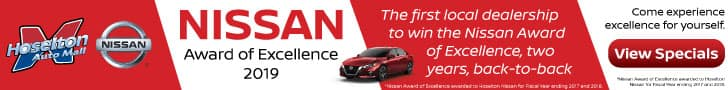 Hoselton Nissan is the Nissan Award of Excellence winner