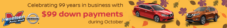 Celebrate 99 years in business iwth $99 down payments during October