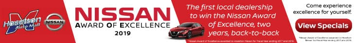 Hoselton Nissan wins Nissan Award of Excellence