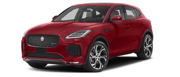 Image of red Jaguar E-Pace for sale at Jaguar Oklahoma City