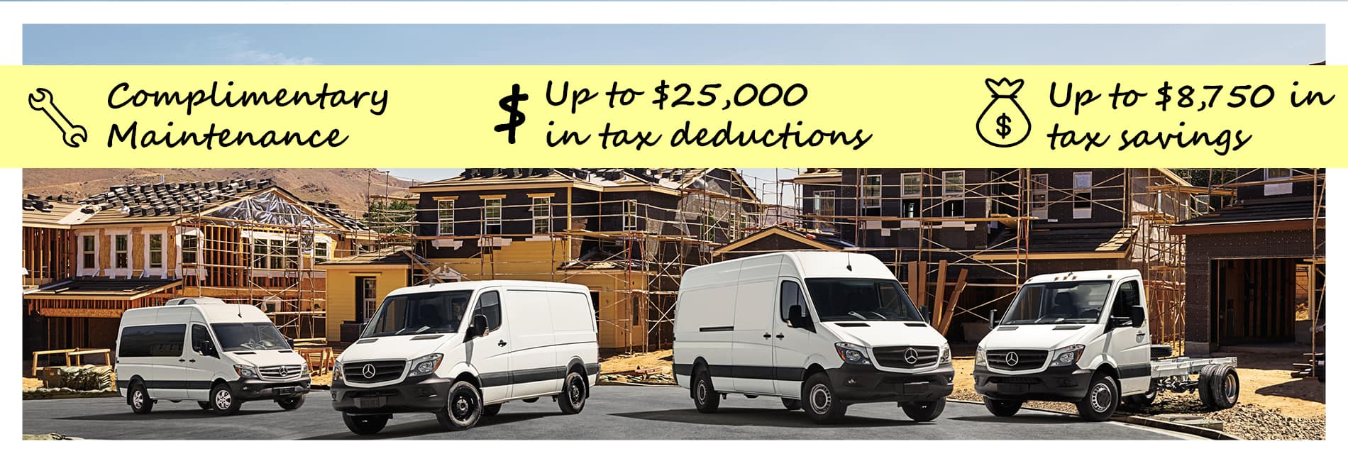 Mercedes-Benz Commercial Vans Tax Deduction Section 179