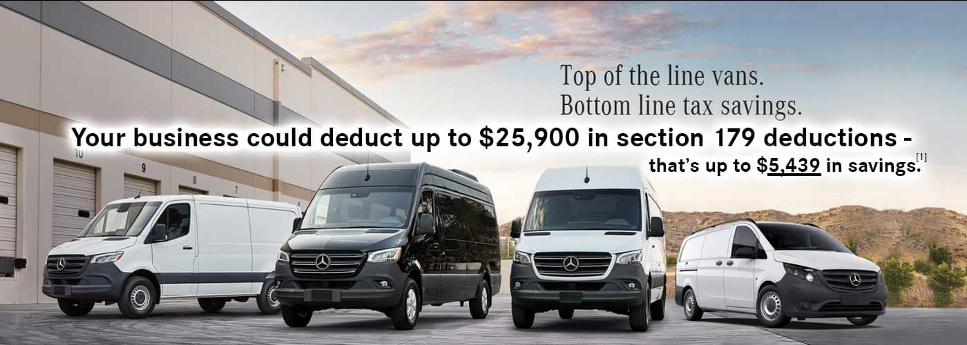 Section 179 tax deductions for 2020. Mercedes-Benz Commercial Vans