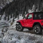 2019 Jeep Wrangler Parked on Snowy Mountain