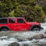 2019 Jeep Wrangler Off-Roading Through Water