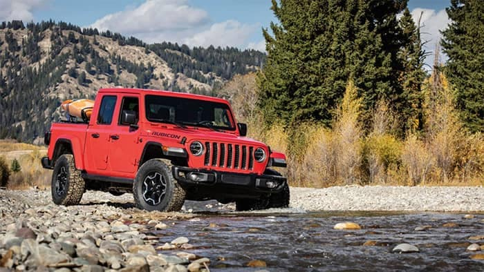 2020 Jeep Gladiator Parked by Water