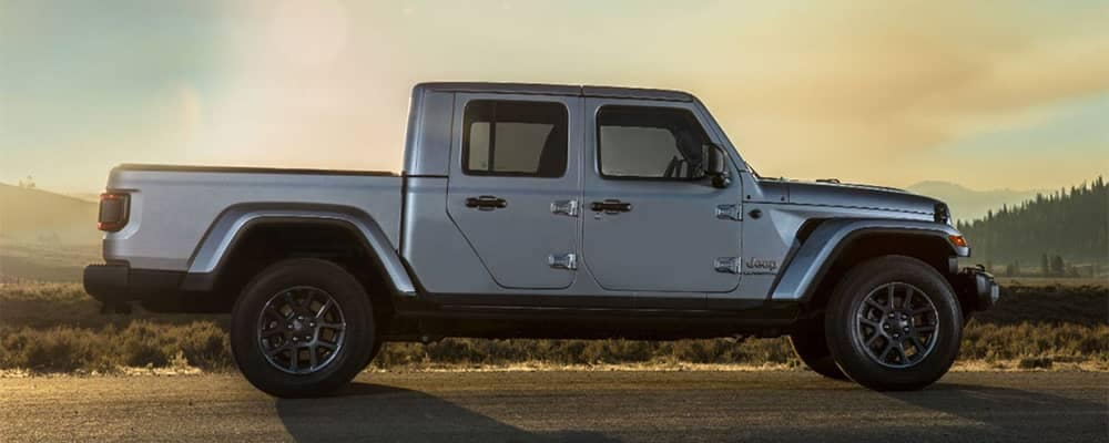 Jeep Gladiator Parked at Sunset