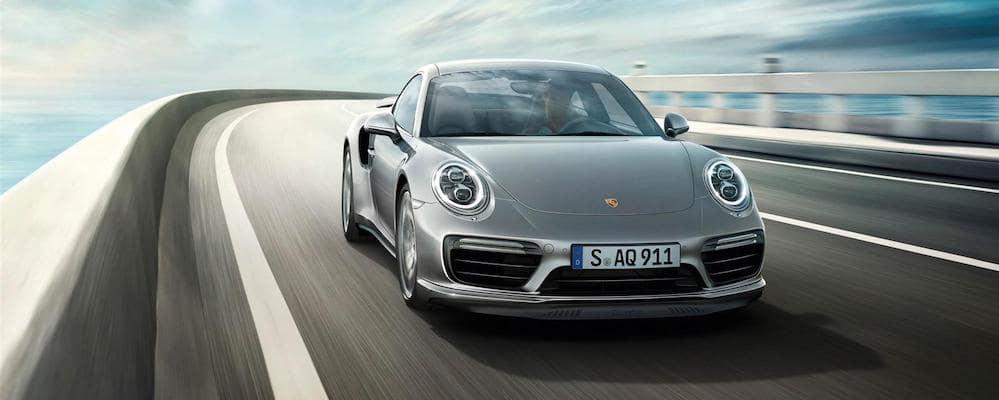 Silver Porsche 911 Turbo on highway