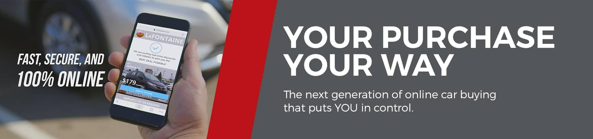 Your Purchase Your Way banner
