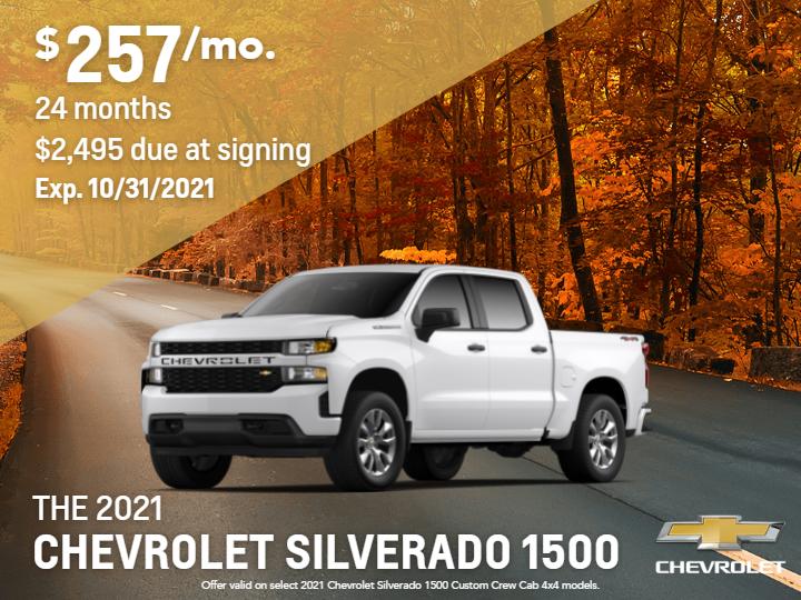 2021 Chevrolet Silverado 1500 Custom 4WD Crew Cab