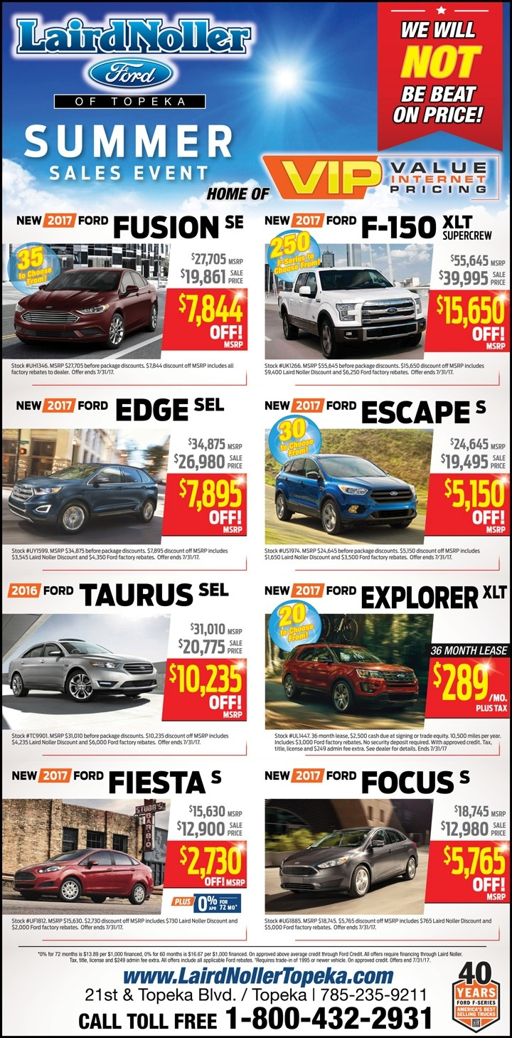 Laird Noller Ford Topeka best price on New Fords As