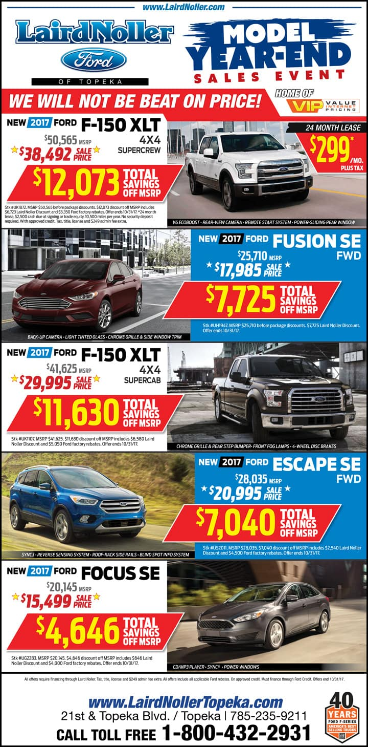 Laird Noller Ford Best price on new Fords in Kansas