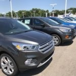 Row of 2017 Ford Escape's in Topeka, Kansas at Laird Noller Ford