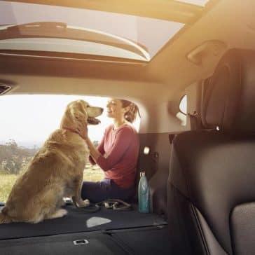 2018 Hyundai Tucson fold-down rear seatback