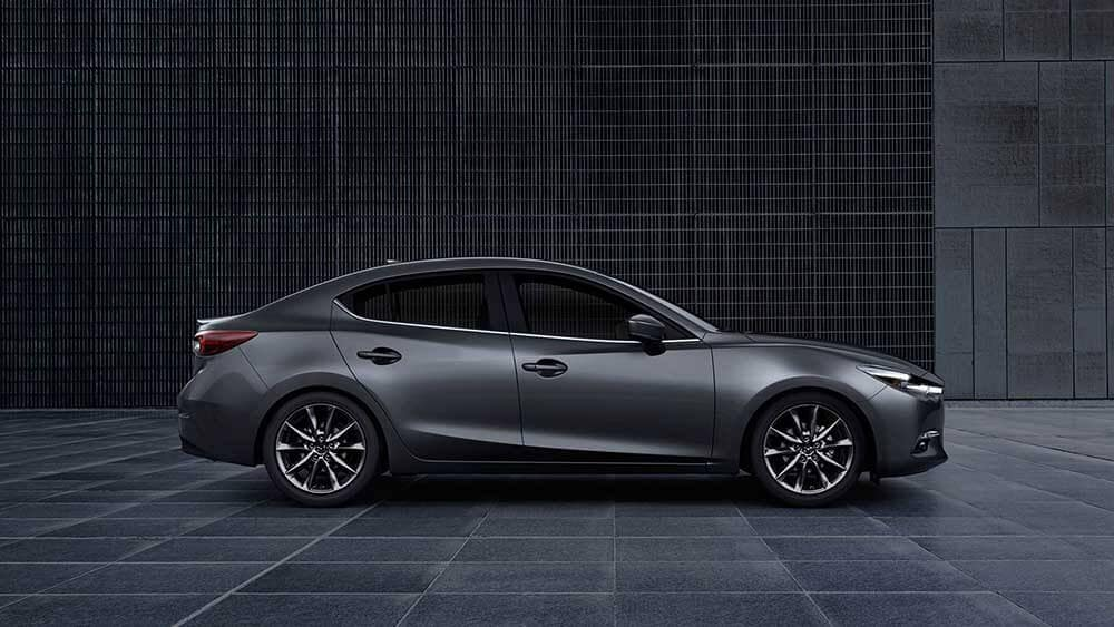 2018 Mazda3 Sedan parked outside a building