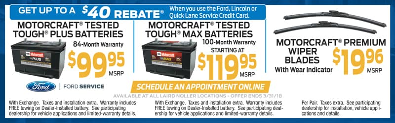 Laird Noller Ford February Service Specials in Topeka