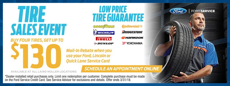 Lawrence Ford Tire Service Specials