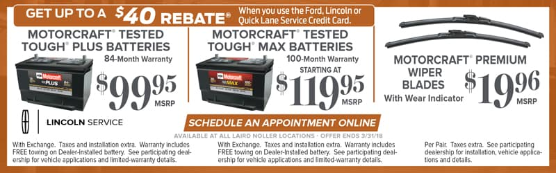 Ford and Lincoln Service Specials in Lawrence and Topeka, Kansas