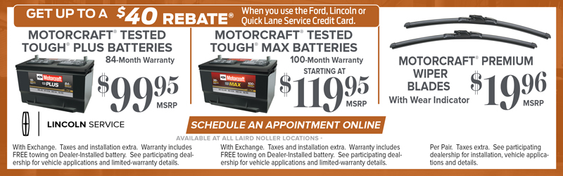 Ford and Lincoln Battery Service Special in Topeka Kansas