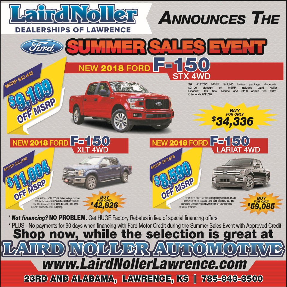 Ford in Lawrence, Kansas August 2018 F-150 deals