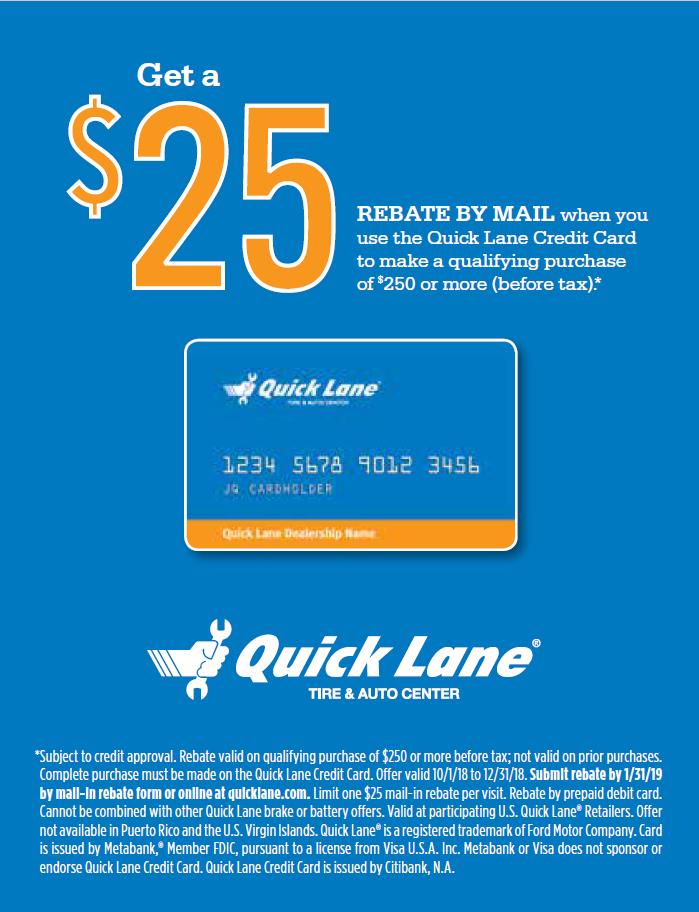 Ford QuickLane Specials Topeka, Kansas. October 2018