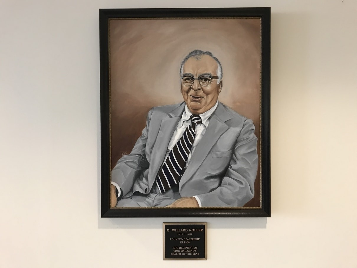 Our founder, O. Willard Noller, pictured here, founded the store in 1960 and won the 1970 Time Dealer of the Year as the best Ford Dealer in the World.