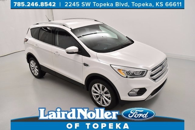 2017 Ford Escape Titanium 301a Package with Platinum white color in Topeka. Kansas